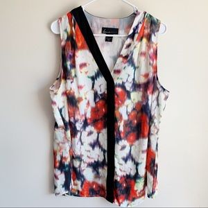 Lane Bryant Watercolor Sleeveless Career Blouse